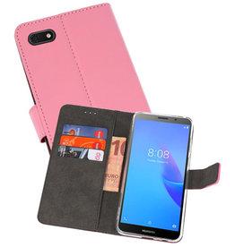 Wallet Cases Hoesje Huawei Y5 Lite 2018 Roze
