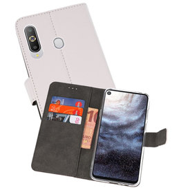 Wallet Cases Hoesje Samsung Galaxy A8s Wit