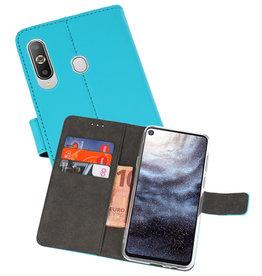 Wallet Cases Hoesje Samsung Galaxy A8s Blauw