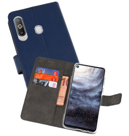 Wallet Cases Hoesje Samsung Galaxy A8s Navy