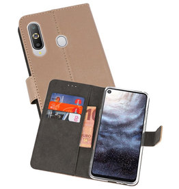 Wallet Cases Hoesje Samsung Galaxy A8s Goud