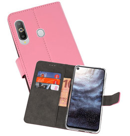 Wallet Cases Hoesje Samsung Galaxy A8s Roze