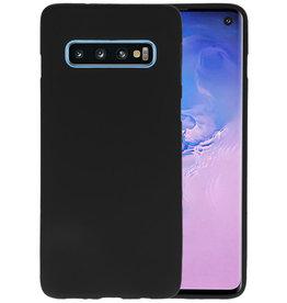 BackCover Hoesje Color Telefoonhoesje Samsung Galaxy S10 - Zwart