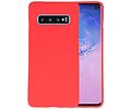 BackCover Hoesje Color Telefoonhoesje voor Samsung Galaxy S10 - Rood