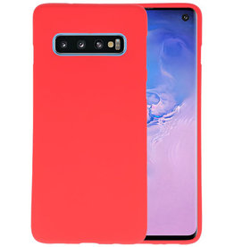 Color TPU Hoesje Samsung Galaxy S10 Rood