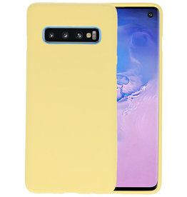 BackCover Hoesje Color Telefoonhoesje Samsung Galaxy S10 - Geel