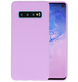 Color TPU Hoesje Samsung Galaxy S10 Paars