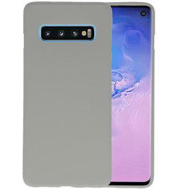 BackCover Hoesje Color Telefoonhoesje Samsung Galaxy S10 - Grijs