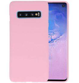 BackCover Hoesje Color Telefoonhoesje Samsung Galaxy S10 - Roze