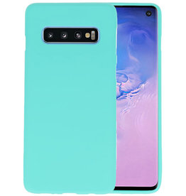 Color TPU Hoesje Samsung Galaxy S10 Turquoise