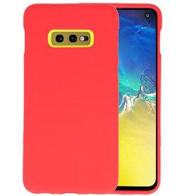 BackCover Hoesje Color Telefoonhoesje Samsung Galaxy S10e - Rood