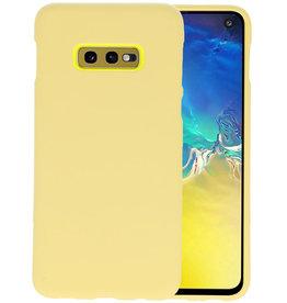 BackCover Hoesje Color Telefoonhoesje Samsung Galaxy S10e - Geel