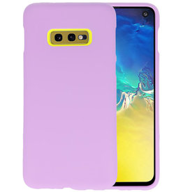 Color TPU Hoesje Samsung Galaxy S10e Paars