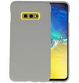 BackCover Hoesje Color Telefoonhoesje Samsung Galaxy S10e - Grijs