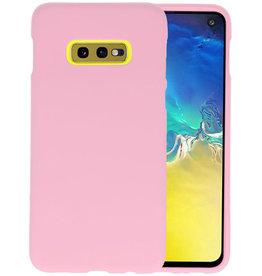 Color TPU Hoesje Samsung Galaxy S10e Roze