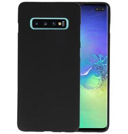 BackCover Hoesje Color Telefoonhoesje Samsung Galaxy S10 Plus - Zwart