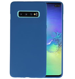 BackCover Hoesje Color Telefoonhoesje Samsung Galaxy S10 Plus - Navy
