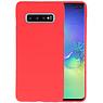 BackCover Hoesje Color Telefoonhoesje Samsung Galaxy S10 Plus - Rood