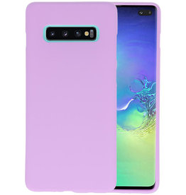 BackCover Hoesje Color Telefoonhoesje Samsung Galaxy S10 Plus - Paars