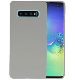 BackCover Hoesje Color Telefoonhoesje Samsung Galaxy S10 Plus - Grijs