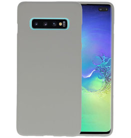 Color TPU Hoesje Samsung Galaxy S10 Plus Grijs