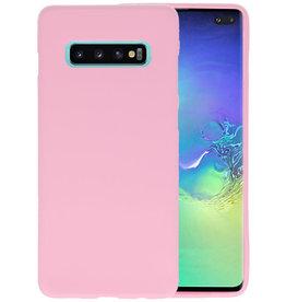 BackCover Hoesje Color Telefoonhoesje Samsung Galaxy S10 Plus - Roze