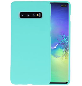 BackCover Hoesje Color Telefoonhoesje Samsung Galaxy S10 Plus - Turquoise