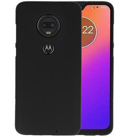 BackCover Hoesje Color Telefoonhoesje Motorola Moto G7 - Zwart