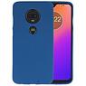 Color TPU Hoesje Motorola Moto G7 Navy