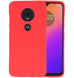 Color TPU Hoesje Motorola Moto G7 Rood