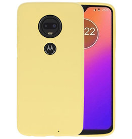 BackCover Hoesje Color Telefoonhoesje Motorola Moto G7 - Geel