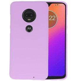 Color TPU Hoesje Motorola Moto G7 Paars
