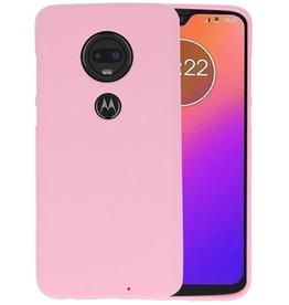 Color TPU Hoesje Motorola Moto G7 Roze