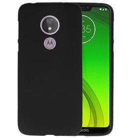 BackCover Hoesje Color Telefoonhoesje Motorola Moto G7 Power - Zwart