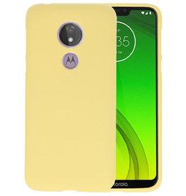 BackCover Hoesje Color Telefoonhoesje Motorola Moto G7 Power - Geel
