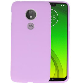 Color TPU Hoesje Motorola Moto G7 Power Paars