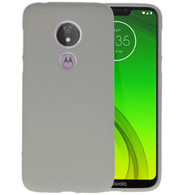 Color TPU Hoesje Motorola Moto G7 Power Grijs