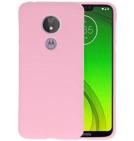 BackCover Hoesje Color Telefoonhoesje Motorola Moto G7 Power - Roze
