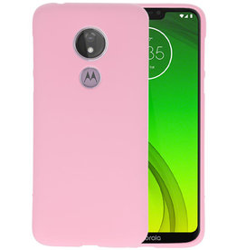 Color TPU Hoesje Motorola Moto G7 Power Roze
