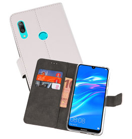 Wallet Cases Hoesje Huawei Y7 / Y7 Prime (2019) Wit