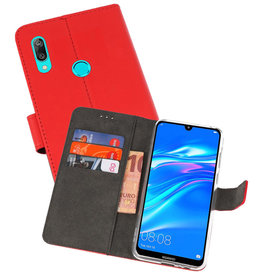 Wallet Cases Hoesje Huawei Y7 / Y7 Prime (2019) Rood