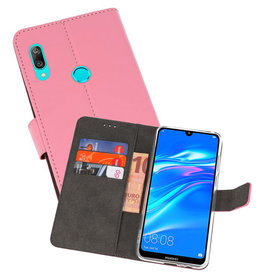 Wallet Cases Hoesje Huawei Y7 / Y7 Prime (2019) Roze