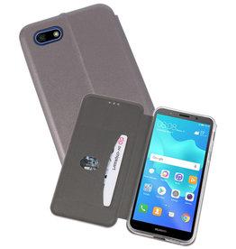 Slim Folio Case Huawei Y5 Lite / Y5 Prime 2018 Grijs