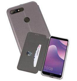 Slim Folio Case Huawei Y7 / Y7 Prime 2018 Grijs