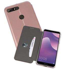 Slim Folio Case Huawei Y7 / Y7 Prime 2018 Roze