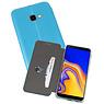 Blauw Slim Folio Case Samsung Galaxy J4 Plus