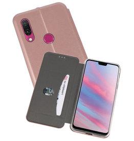Slim Folio Case Huawei Y9 2019 Roze