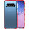Armor TPU Hoesje Samsung Galaxy S10 Transparant / Rood