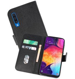 Samsung Galaxy A50 Hoesje Kaarthouder Book Case Telefoonhoesje Zwart