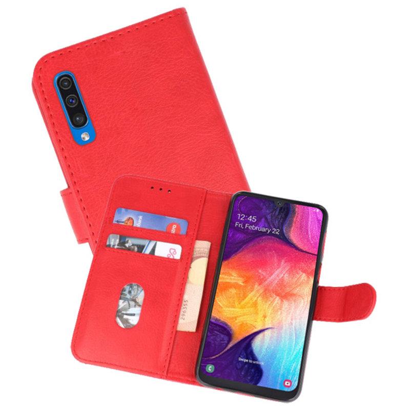 77903a71609 Samsung Galaxy A50 Hoesje Booktype Cases Rood - MobieleTelefoonhoesje.nl